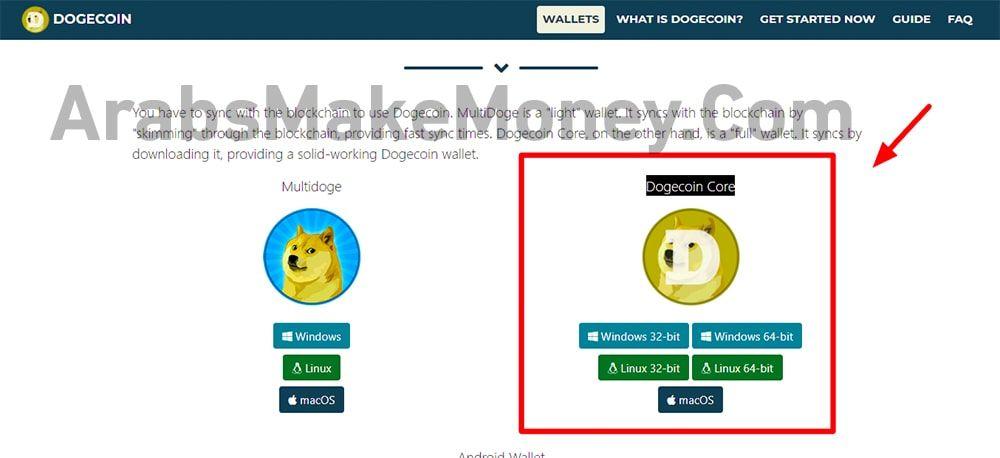 طريقة تعدين عملة doge coin
